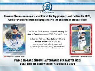 2020 Bowman Chrome Baseball Hobby